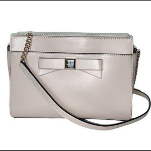 kate spade NEW taupe cross body Mint Condition